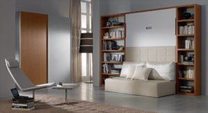 Letto a scomparsa moderno con divano Domino DRS Mobili Fratelli Spinelli 2