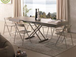 Tavolino trasformabile in tavolo da pranzo After allungato