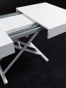 Tavolino trasformabile in tavolo da pranzo After colore bianco