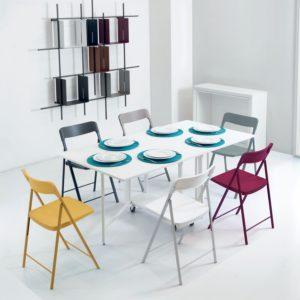 Consolle allungabile con sedie incorporate Archimede