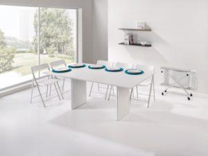 Consolle allungabile con sedie incorporate Proteo