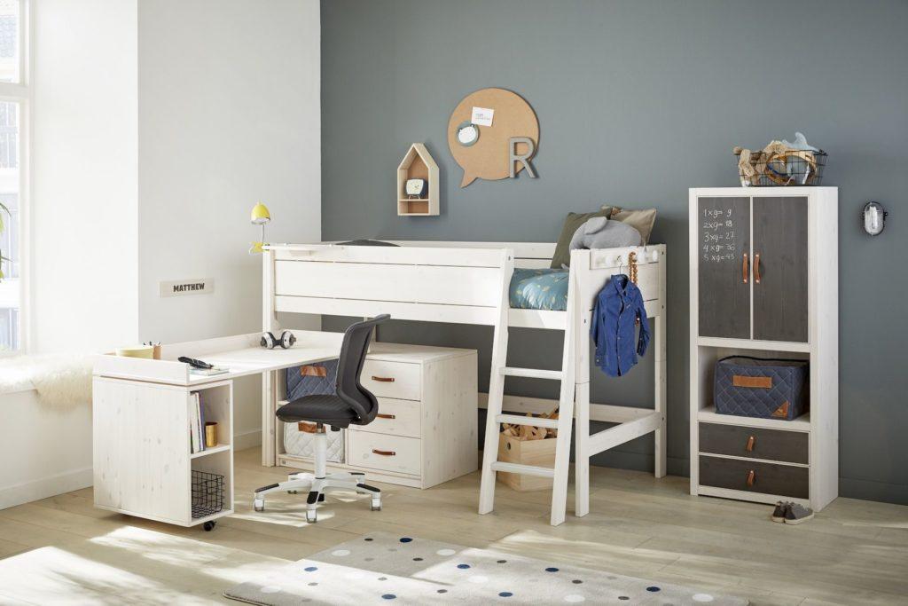 Letto a soppalco per cameretta bambini Study Desk