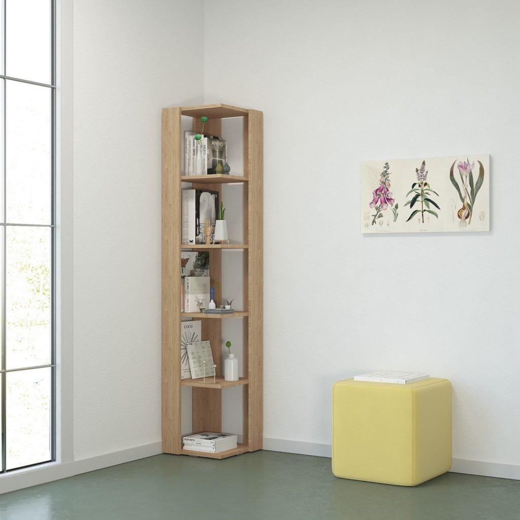 Libreria angolare salvaspazio Korner