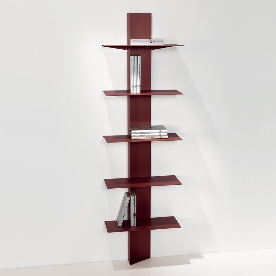 Libreria da parete in acciaio Lift