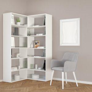 Libreria ad angolo in legno Foldy