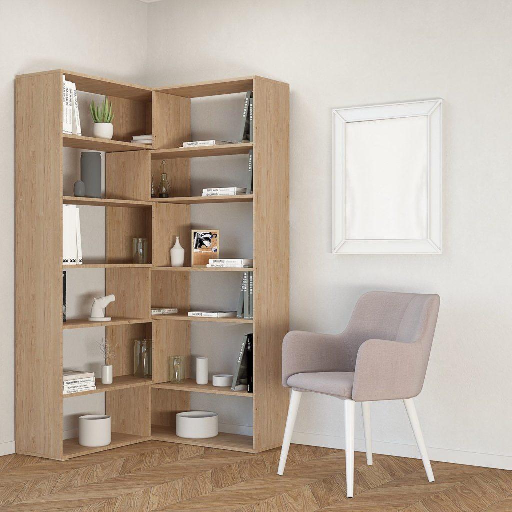Libreria ad angolo design Foldy