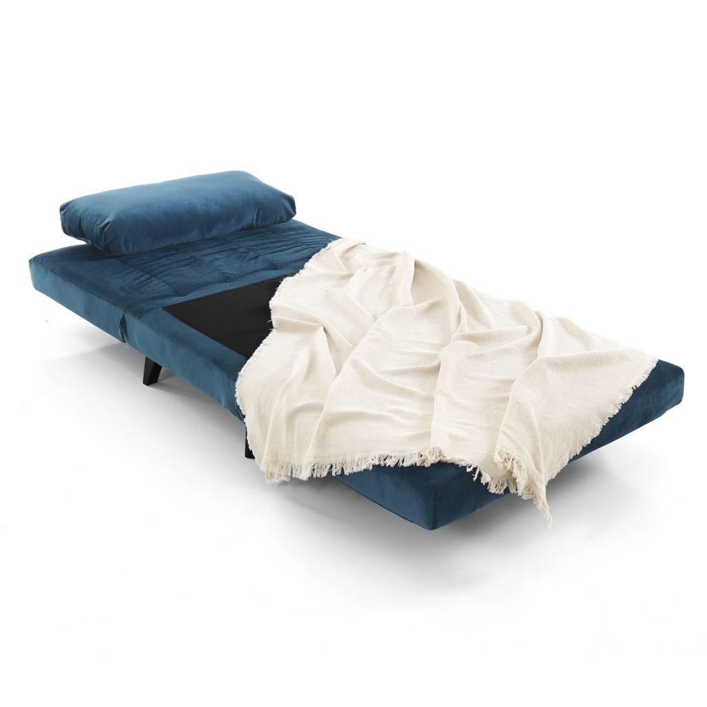 Poltrona letto Benat Blu aperto