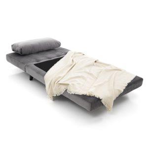 Poltrona letto Benat grigio aperto