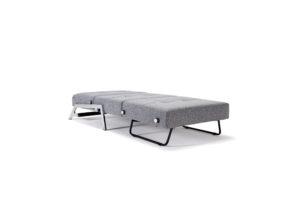 Cubed poltrona letto singolo aperto grigio