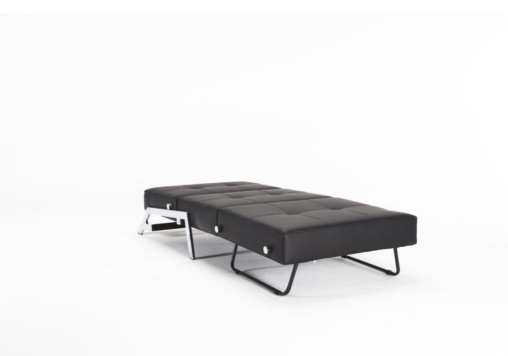 Cubed poltrona letto singolo aperto nero