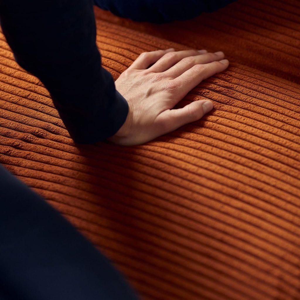 Cubed poltrona letto tessuto arancio