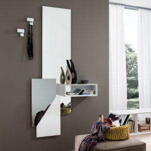 Come arredare un ingresso piccolo - Specchio Mensola e Appendiabiti