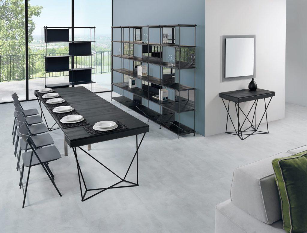 Mobili trasformabili salvaspazio: tavolo consolle allungabile Excel 3