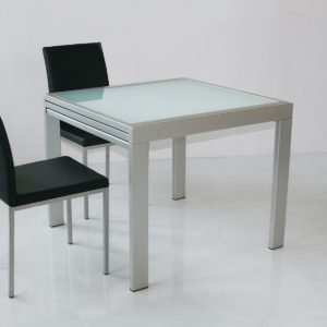 Tavolo quadrato allungabile Conrado alluminio