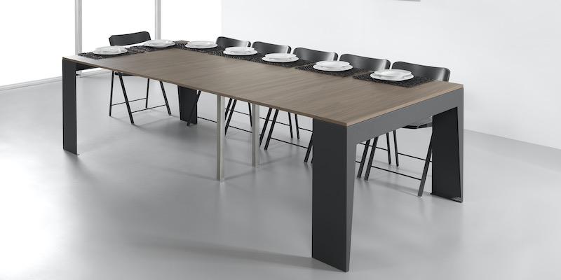 Consolle allungabile con sedie: il tavolo tascabile