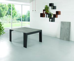 Tavolo consolle allungabile con sedie Marvel sequenza 6