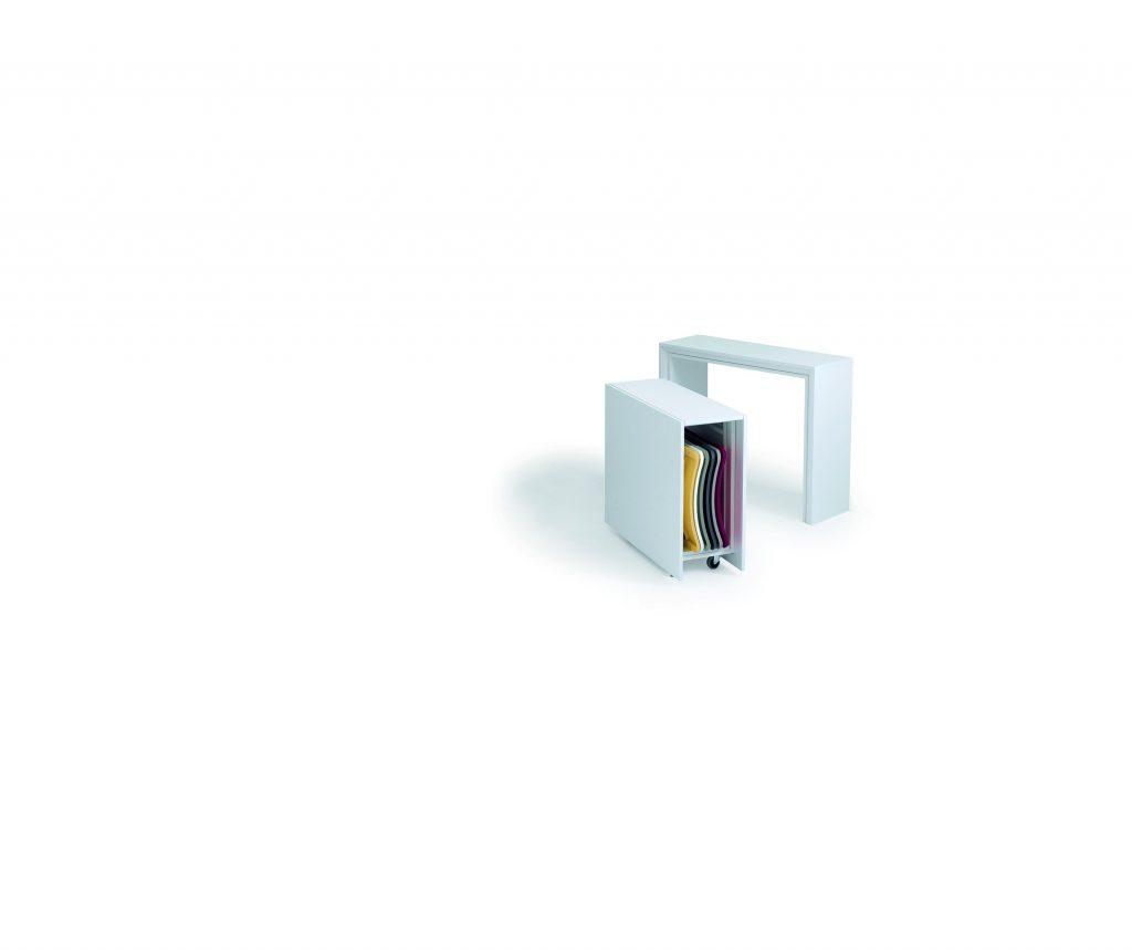 Consolle allungabile con sedie incorporate Archimede 2