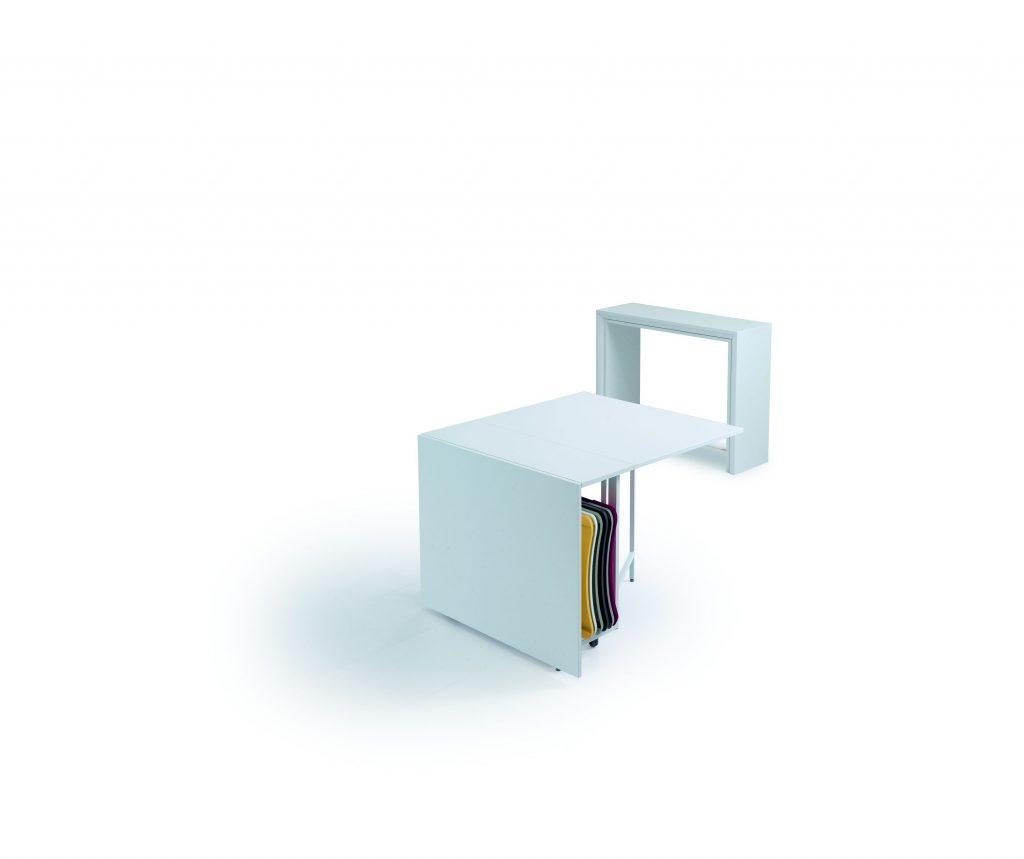 Consolle allungabile con sedie incorporate Archimede 3