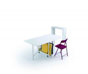 Consolle allungabile con sedie incorporate Archimede 4