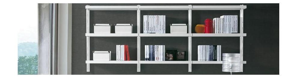 Librerie componibili e modulari in metallo e legno design for Librerie metalliche design
