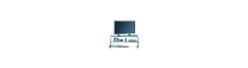 Carrelli porta tv su ruote in vetro o in metallo smart arredo design - Carrello porta tv meliconi ...