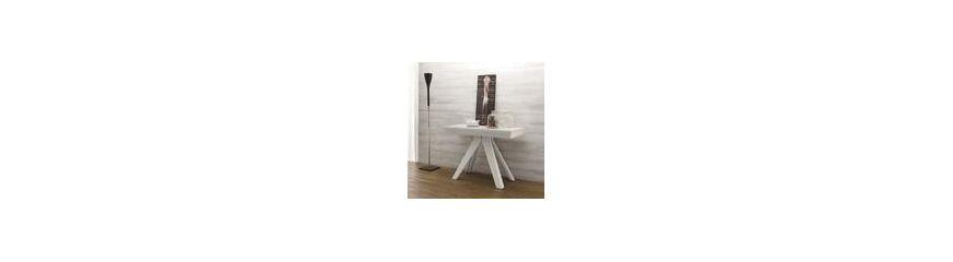 Tavoli consolle allungabili in vetro e in legno smart for Consolle in vetro per ingresso