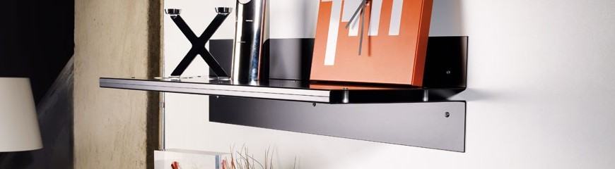Mensole da parete in metallo vetro o legno per cucina - Mensole bagno design ...
