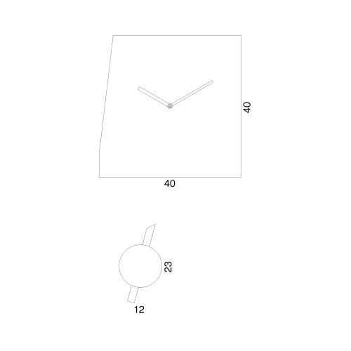 Orologio da parete Deep Time