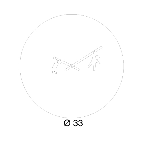Orologio da parete Time2play