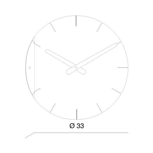 Orologio Sheet da parete in acciaio