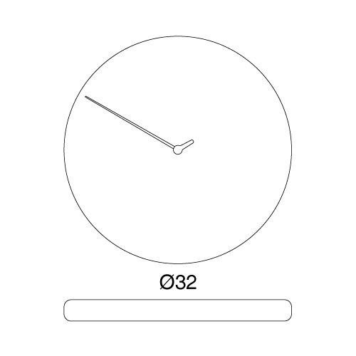 Orologio da parete Less