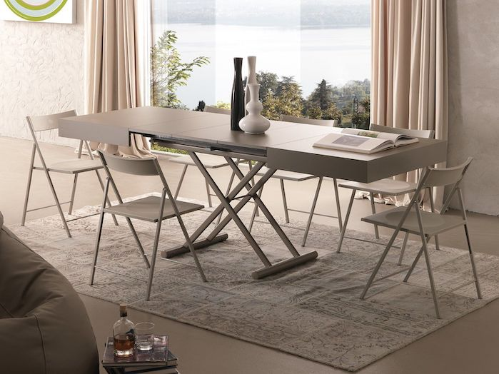 Tavolini trasformabili complementi d 39 arredo salvaspazio - Tavolino che diventa tavolo da pranzo ...