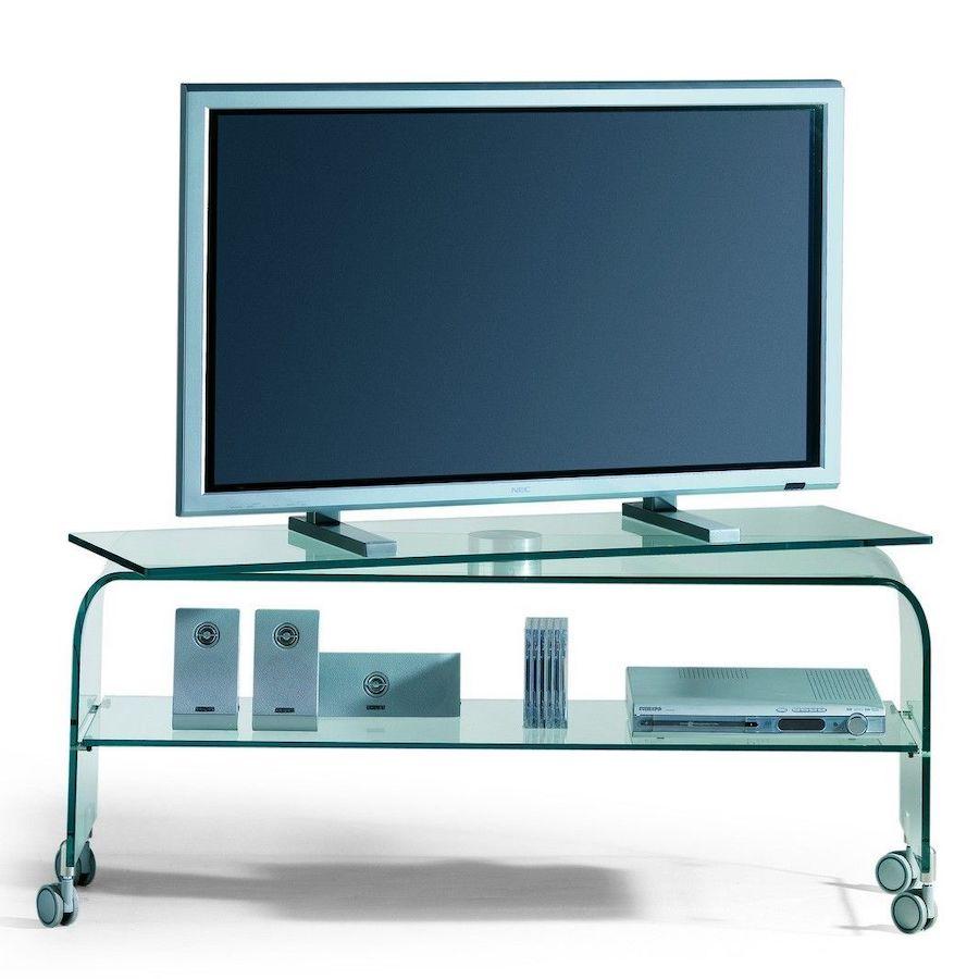 Carrelli Porta Tv Lcd.Mobili Porta Tv Moderni In Vetro Scopri I Piu Eleganti