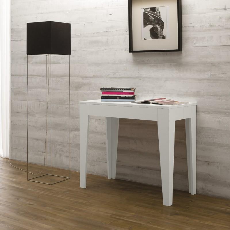 Tavoli consolle allungabili con sedie in legno o acciaio