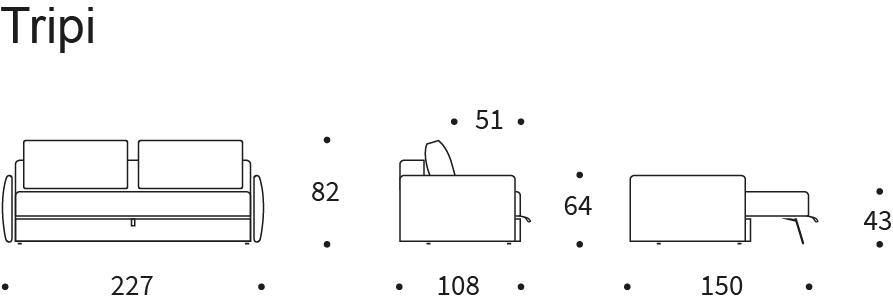 Dimensioni divano Tripi