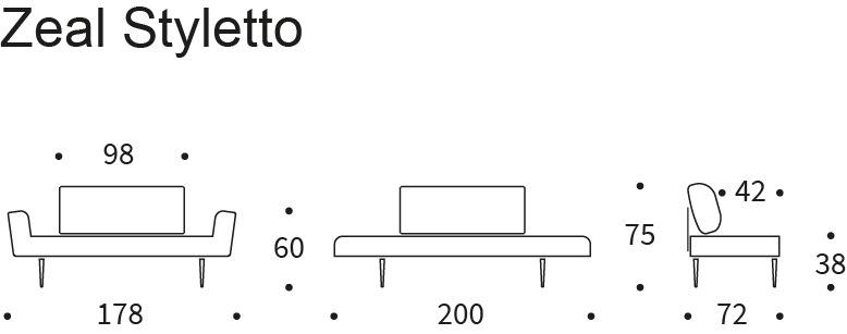 dimensioni divano Zeal