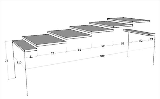 Dimensioni consolle Barnaby 110 cm
