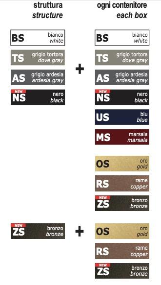 Combinazioni colori libreria Libra2