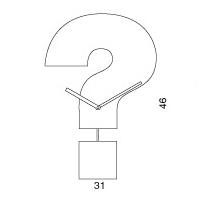 Orologio parete con pendolo Question Time