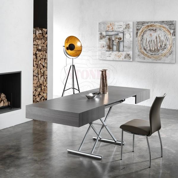 Tavolo basso da soggiorno trasformabile