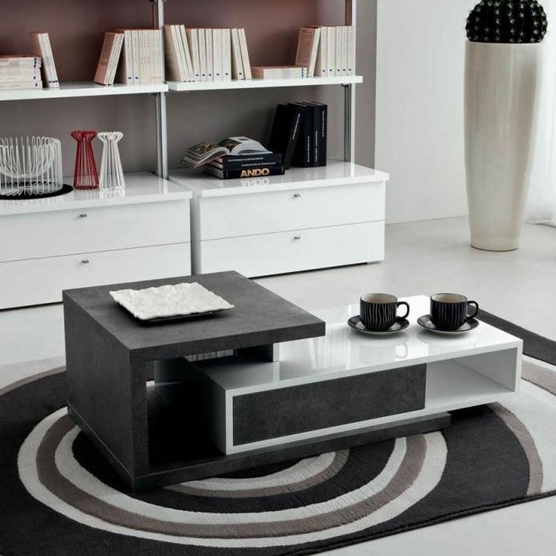 Anders tavolino da fumo in legno con contenitore 140 x 60 cm