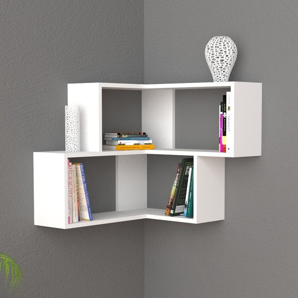 Librerie angolari e mensole design moderno for Mensole design on line