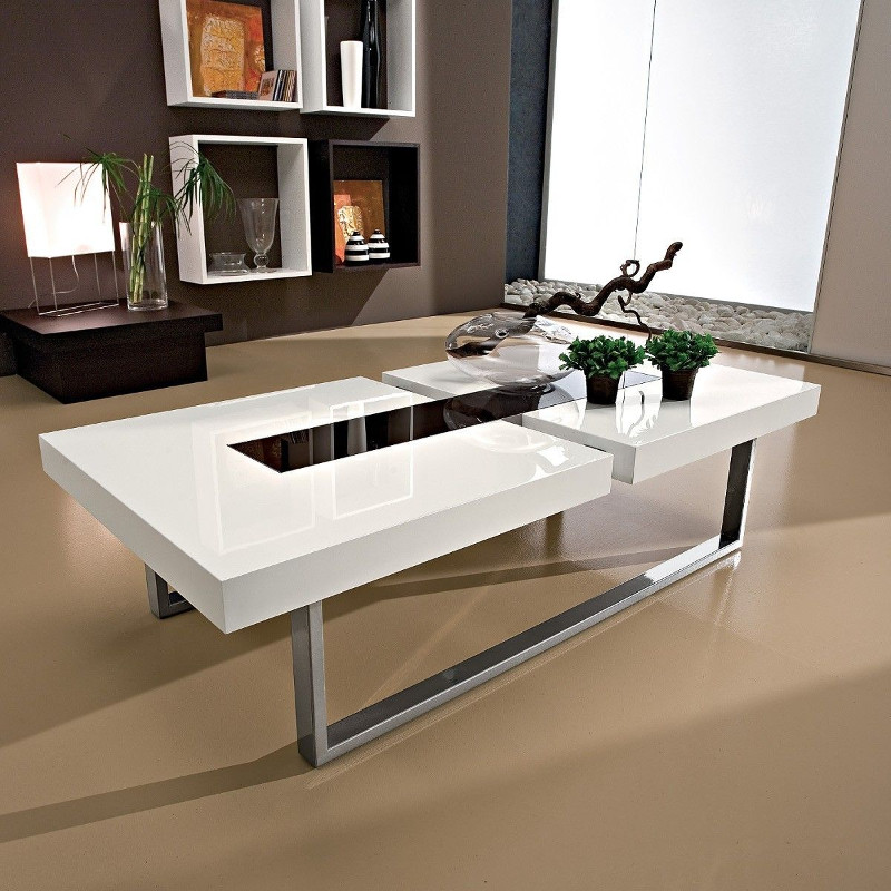 Klemens tavolino da salotto in legno metallo vetro 125 x 60 cm
