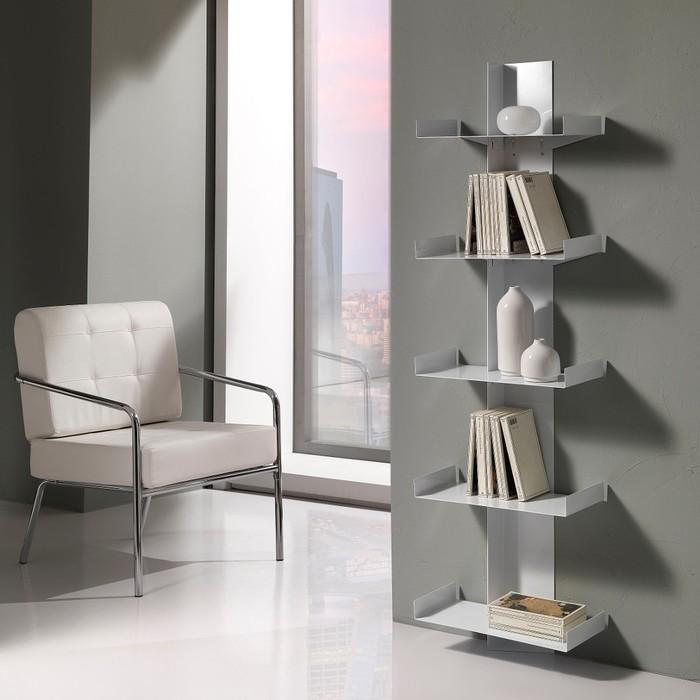 Libreria a colonna Karyn in metallo bianco