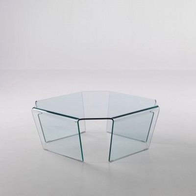 Tavolino ottagonale in vetro 80 x 80 cm