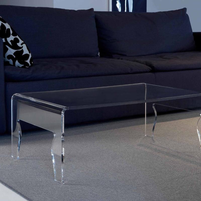 Tavolino da salotto in plexiglass Naif larghezza 56 o 85 cm