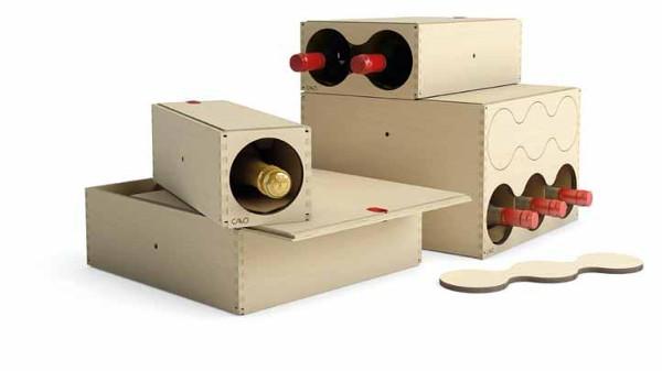 Cavò moduli per cantinette in legno design moderno