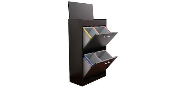 Mobiletti raccolta differenziata per la cucina in legno o ...