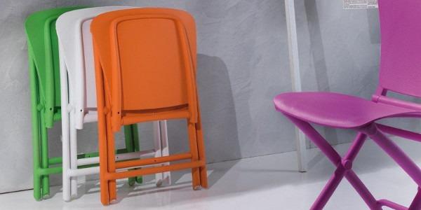 Sedie Di Plastica Pieghevoli.Sedie Pieghevoli Salvaspazio Moderne Per La Sala Pranzo
